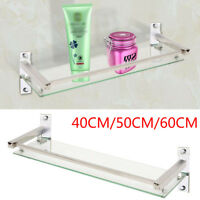 New Bathroom Bath Glass Shower Caddy Shelf Rack Holder Wall Mounted Tier