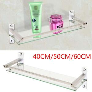 New Bathroom Bath Glass Shower Caddy Shelf Rack Holder Wall Mounted Tier