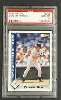 1993 Pacific Spanish #208 Don Mattingly New York Yankees PSA 10 Gem Mint Pop 14