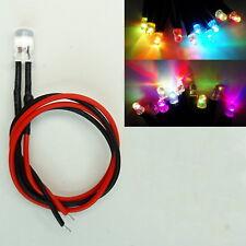 LED 3mm RGB Rainbow Langsamer Farbwechsel 9-12V fertig Verkabelt  C3027