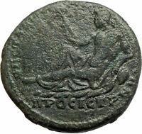 MACRINUS 217AD River God Nicopolis ad Istrum Rare Ancient Roman Coin  i76275