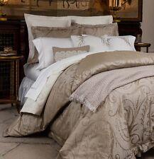 Sferra AMBRA Queen Duvet Cover Shams 3-PC. Sable Cotton/Silk Sateen Jacquard New