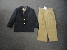 NAUTICA/STANLEY BLACKER Lot Of 2 Blue Beige Boy's Blazer Pants NWT Sz 4 EE5226