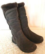BareTraps Eventure Womens Sz 9.5M Dark Brown Suede Boots Faux Fur Lined Outdoors