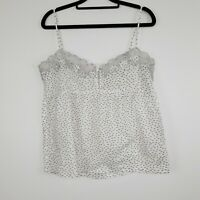 Feather & Bone Anthropologie Cami White Lace Shell Appliqué Size M