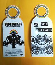 More details for supergrass promo door hanger for lp life on other planets / uk tour october 2002