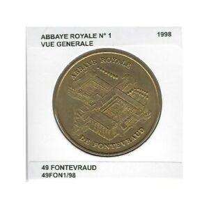 49 FONTEVRAUD ABBAYE ROYALE Numero 1 VUE GENERALE 1998 SUP