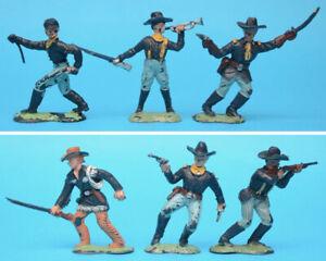 CRESCENT 60mm U.S. Cavalry figures toy soldiers (S)