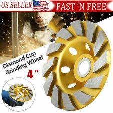 "4"" inch Diamond Segment Grinding Wheel Grinder Cup Concrete Stone Polishing Disc"