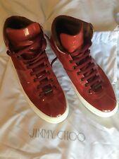 9c03db8f6c6 Jimmy Choo High Top Red Sneakers