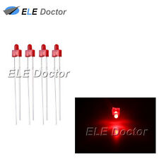 100pcs 2mm Diffused Red-Red Light DIP Round Top LED Diodes