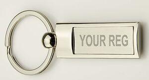 REG Number Plate CAR - MOTORBIKE - registration METAL Keyring ENGRAVED  gift box