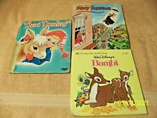Lot of 3 Small Hardback Children's BOOKS, Bambi, Mary Poppins, That Donkey
