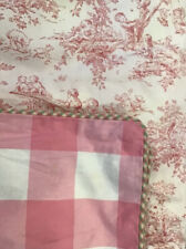 Pottery Barn Pink Toile Twin Duvet
