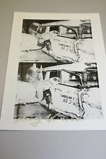 """ANDY WARHOL HAND SIGNED PRINT IN SILVER PEN """"AMBULACE DISASTER"""" 1986 WITH COA"""