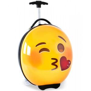 EMOJI - Hartschale Trolley Reisetasche Reisetrolley Handgepäck (Kiss)