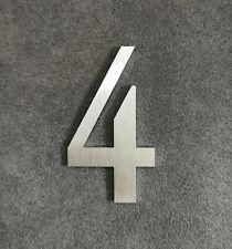 Zahl 4 Metall Edelstahl Zahlen Hausnummern Schilderbeschriftung Schriftzüge 4cm