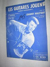 PARTITION MUSICALE BELGE JOHNNY HALLYDAY LES GUITARES