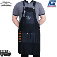 Hair Stylist Apron For Salon Hairdresser, Barber Haircut Styling Apron With Pock