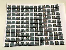 Custom 120 stickers german soldiers WW2 grey wehrmacht uniform SIZE - lego torso