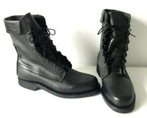 ARMY COMBAT BOOTS MILITARY BLACK LEATHER DEFENCE FLYERS MADE IN USA - SIZE 8