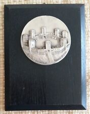Museal ! Reichsehrenmal Tannenberg Metallplakette auf Holzplatte Anno 1935-1944