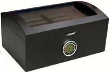 KINGS CHEST 100 ~ Dome Style Top Tinted Glass Humidor w/ External Digital Needle