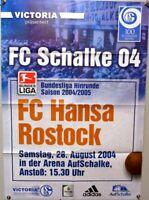 Offizielles Spielplakat + 28.08.2004 + BL + FC Schalke 04 vs FC Hansa Rostock #8