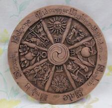 Wheel of the Year Plaque Sabbats Cross Quarter Solstice Pagan Wall Dryad #331SWY