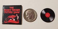 "Dollhouse Miniature Record Album 1"" 1/12 scale Barbie Rocky Horror Halloween"