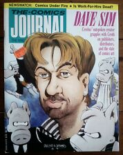 THE COMICS JOURNAL 130, DAVE SIM, FANTAGRAPHICS, JULY 1989