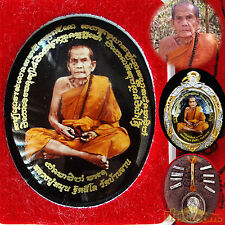119Y LP Moon Locket Takrut Geewon Gemstone SEED COIN Lucky Rich Buddha AMULETS
