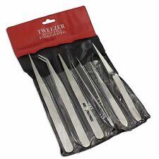 set 6 tweezers tweezer non magnetic anti acid jewellery craft watch tools repair