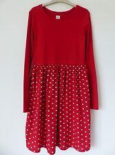 Entièrement neuf sans étiquette GAP Belle Robe Rouge avec Coeur Motifs Jupe Taille XL (12 ans) Neuf!