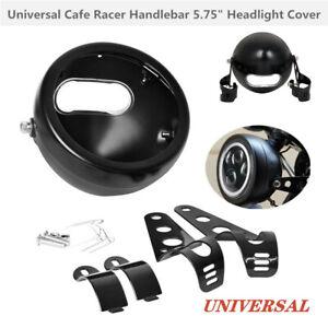 "1X 5.75"" Motorcycle Bike Headlight Fairing Racer Light Cover Lamp Mounting Stent"
