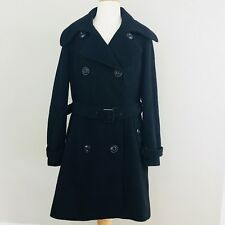 NEW YORK & COMPANY BLACK WOOL WOMEN TRENCH COAT WARM SIZE 12