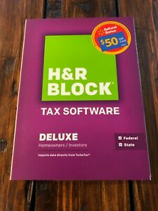 2014 H&R Block Tax Software Deluxe Homeowners/Investors Federal and State SEALED