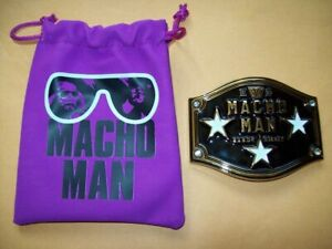 TITLE PLATE Macho Man Randy Savage Limited Edition Collector's Box WWE AEW WcW