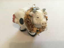 Vintage Cast Art Industries Large Cow Figurine statue Signed by Kristin '93