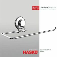 Hasko Accessories - Suction Cup Paper Towel Holder- Chrome Plated Stainless