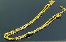 22 CARAT YELLOW GOLD ROUND ROLO CHAIN BEAUTIFUL LIGHT WEIGHT NECKLACE CHAIN