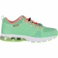 CMP Girl Trainers Sport Shoes Kids Knit Fitness Shoe Green Breathable