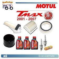 KIT TAGLIANDO TMAX 2001 3 LITRI MOTUL 7100 + FILTRI ARIA + FILTRO OLIO + CANDELE