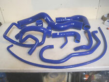 Ford Escort Rs Turbo Coolant+Turbo Silicone Hose Kit Black +dump valve pipe x2