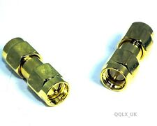 Electronic SMA Male To Male Plug Straight RF Crimp Connector Adapter - UK seller