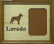 8x10 Pet's Name & Breed Silhouette Photo Mat - 1 photo