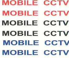 12 X MOBILE CCTV WATERSLIDE DECAL IDEAL FOR CODE 3 POLICE van or car MODELS