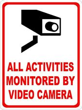 VIDEO CAMERA SURVEILLANCE MONITOR WALL SIGN