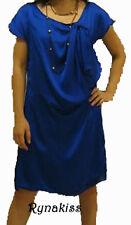 ♥♥♥ NEW Sexy Electric Blue Silk Satin Flowy Dress ♥♥♥