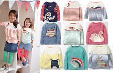 Mini Boden girls applique long sleeve top shirt breton age 2 - 12 years NEW